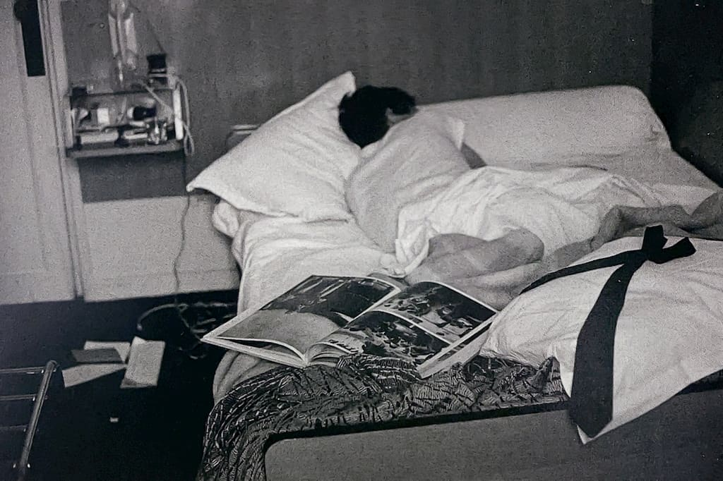 William Eggleston photographié par sa femme Rosa à Paris