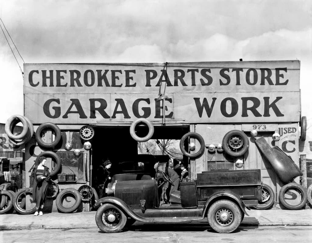 garage des années 30