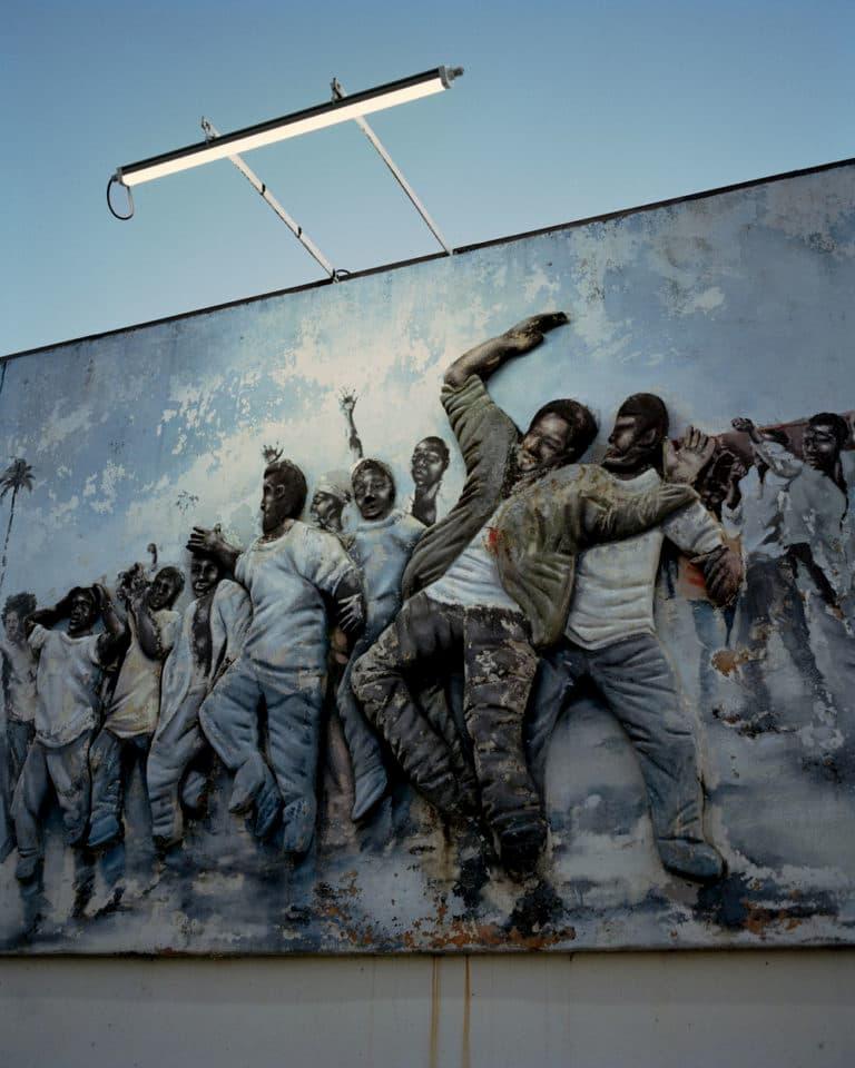La fresque murale en hommage aux victimes de mai 1967 en Guadeloupe par Gregory Halpern