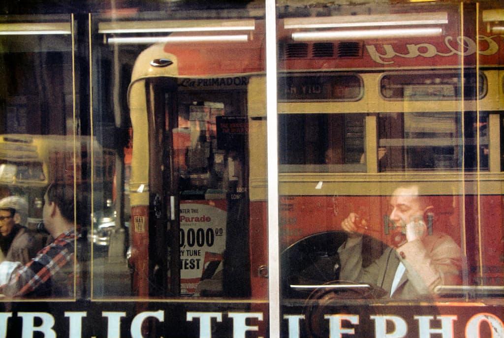Saul Leiter - Phone Call - 1957