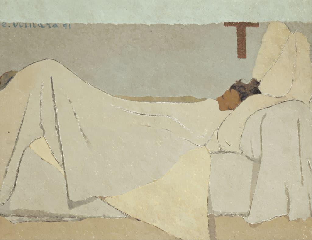 Édouard Vuillard - Au lit - 1891